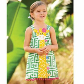 Mudpie Safari Giraffe Dress #1142116