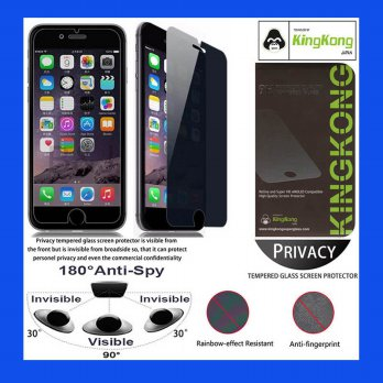 iPhone 6 - 6S Kingkong Anti-Spy Glass Tempered Antigores Screenguard