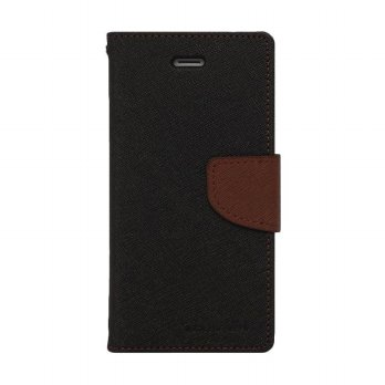Mercury Fancy Diary Asus Zenfone 2 ZE551ML - Hitam/Coklat