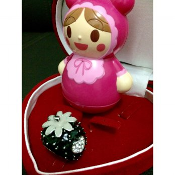 Cincin Premium Strawberry Import Fashion Korea SJ0045