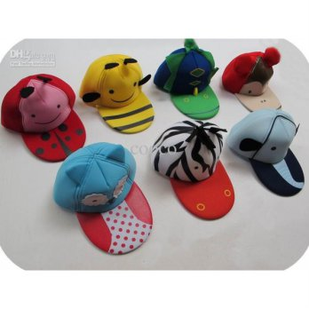SALE!!! Pad 3D Hats Kids Animal 7 Motif / Topi Pad Anak Motif Animal Kode H0190