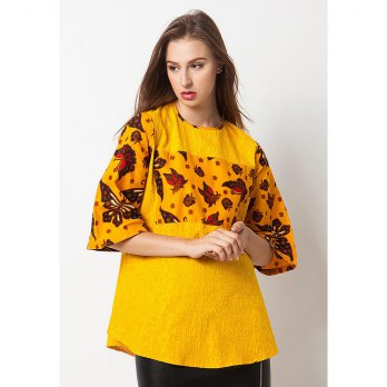 Yolla Batik Blouse-Yellow