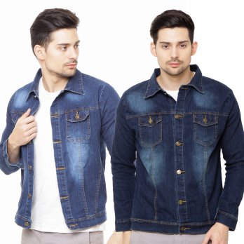 Jfashion Jaket Jeans Washed Tangan panjang Pria / Jaket Denim Pria / Men Jacket / Men Outerwear