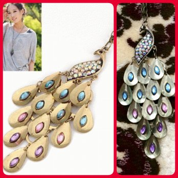Kalung Merak Peacock Import Fashion Korea SJ0045