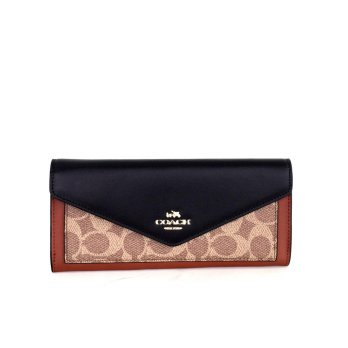Coach Soft Wallet in Colorblock Signature