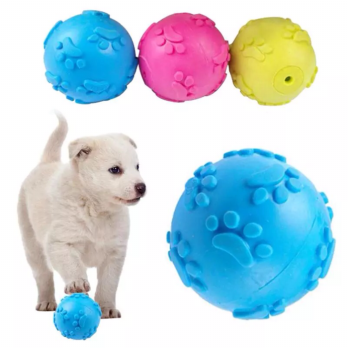 Mainan Bola Karet Bunyi Squeaky Rubber Anjing Kucing Dog Cat Pet Toy