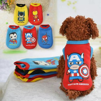 baju anjing kucing spiderman captain america batman lucu
