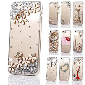 [holiczone] Happy Hours Luxury 3D Handmade Glitter Crystal Rhinestone Fashion Bling Case C/202901