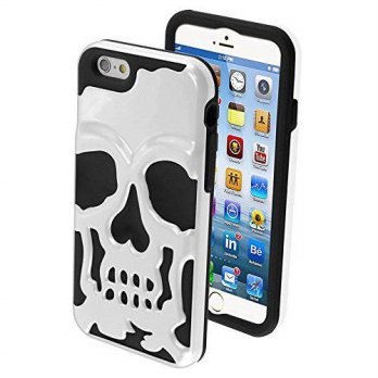 [holiczone] MyBat MYBAT Solid Skullcap Hybrid Protector Cover for iPhone 6 - Retail Packag/150098
