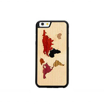 [holiczone] CARVED World Map Inlay iPhone 6/6s Traveler Case/150566