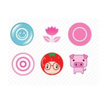 [holiczone] Minstar PEA-BUTTON-1 Smiley Cute iPhone Home Button Sticker - 6 Pack/153688