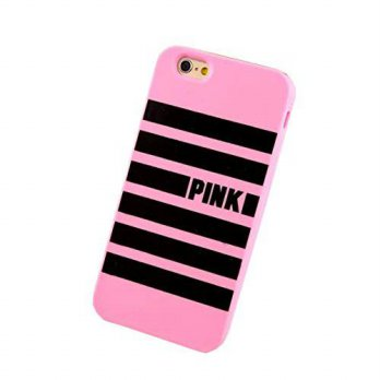 [holiczone] SuperBZ Apple iPhone 6 Stripe Case, PINK Classic Stripe Pattern Snap On Case C/151243