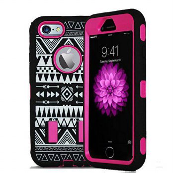 [holiczone] KUTECK Kuteck iPhone 6 Case - Tribal Hybrid Dual Layer Armor Defender Full Bod/156198