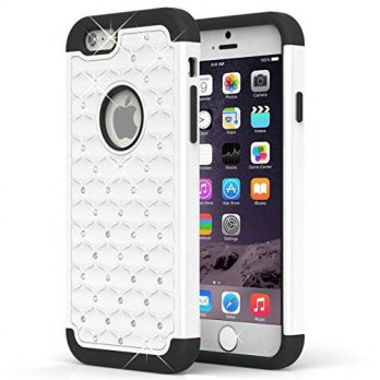 [holiczone] URsmart iPhone 6 plus case,Sparkle rhinestone Stylish Crystal Diamond Heavy Du/118297