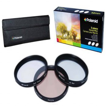 [holiczone] Polaroid Optics 37mm 3 Piece Special Effect Camera/Camcorder Lens Filter Kit (/120871