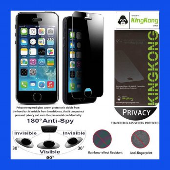 iPhone 5 - 5S - SE - iPhone 5C Kingkong Anti-Spy Glass Tempered Antigores Screenguard