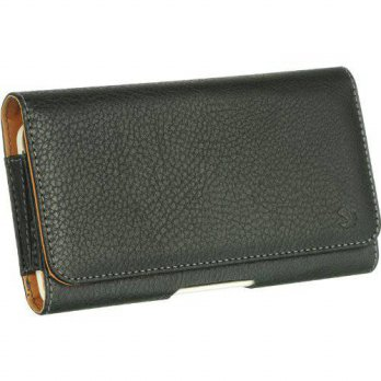 [holiczone] Importer520 Extra Large Leather Case Holster Cover Side Pouch with Belt Clip &/126638
