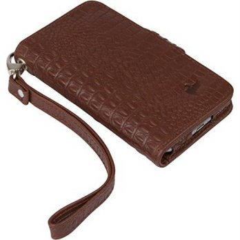 [holiczone] BellaVita USA BellaVita Allegro iPhone 6 Leather Wristlet, in espresso croc/137432