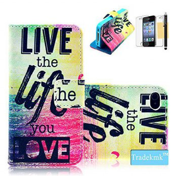 [holiczone] iPhone 4 Case, iPhone 4S Case Tradekmk(TM) Printed Series Life Live Pattern Sl/139841