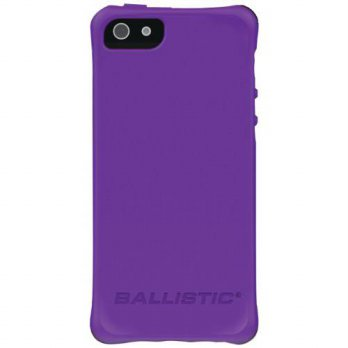 [holiczone] Ballistic LS0955-M085 LS Smooth Case for iPhone 5, Purple TPU with 4 Lime Gree/141728
