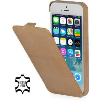 [holiczone] StilGut UltraSlim Genuine Leather Case for Apple iPhone SE & iPhone 5s & iPhon/145971