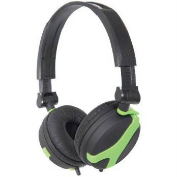 [holiczone] Kenable QTX QX40 Stereo OFC Leather Cushioned Foldable Headphones Green 1.5m (/167280