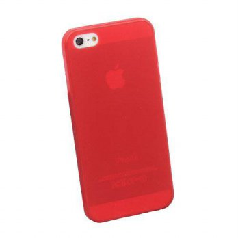 [holiczone] IDS Red Ultra Thin Slim Matte Snap On Hard Case / Cover for Apple iPhone 5 5th/170824