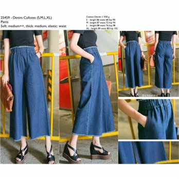 Denim Cullotes (S,M,L,XL) Pants -25459