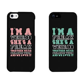 [holiczone] 365 Printing Weirdo and Freak Black Matching Best Friends Phone Cases Christma/172663