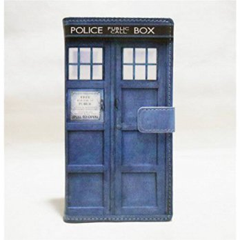 [holiczone] Sunshine - Tech S6 case,Galaxy S6 Wallet Case - Tardis Blue Police Call Box Pa/176640
