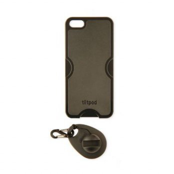 [holiczone] Tiltpod Keychain stand and case for iPhone 5, mini pivoting tripod - black/180516