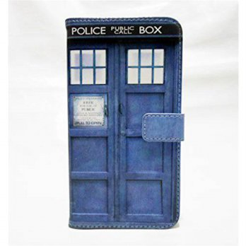 [holiczone] Sunshine - Tech G2 Case, LG Optimus G2 Wallet CASE - Tardis Blue Police Call B/181238