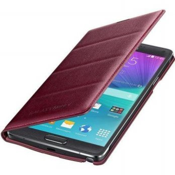 Samsung Flip Wallet Note 4 Plum Red 100% Original
