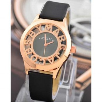 Jam Tangan Marc Jacobs Kulit Cowo Cewe Unisex Analog Watch Elegan