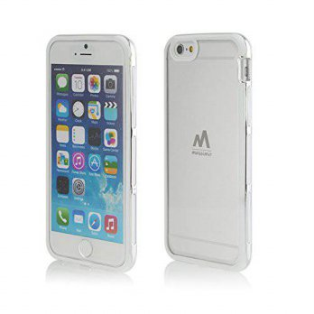 [holiczone] Massimo Iphone 6 Case, Massimo Silver Bumper Case with Crystal Clear Back Pane/192986