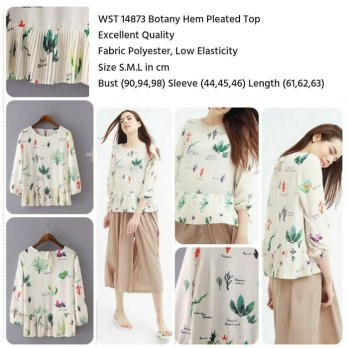 Botany Hem Pleated Top (size S,M,L)-14873