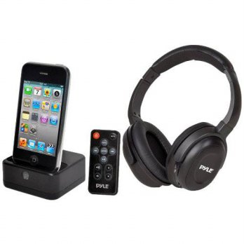 [holiczone] Pyle Home PIH30R UHF Wireless Stereo Headphone with Wireless iPhone/iPod Dock /195491