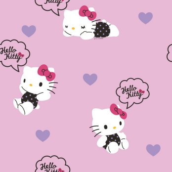 Wallpaper Dinding Sanrio Hello Kitty - Warna Pink