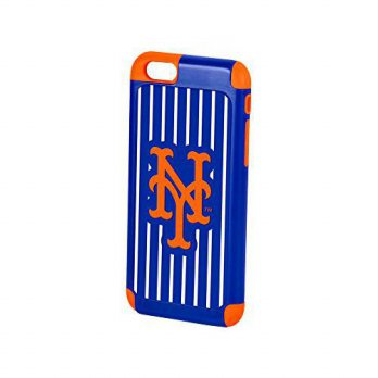 [holiczone] Forever Collectibles MLB New York Mets TPU Dual Hybrid AI6 Cover (2 Piece), Bl/197546
