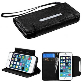 [holiczone] MyBat MyJacket Wallet for iPhone 5s - Retail Packaging - Black/200272