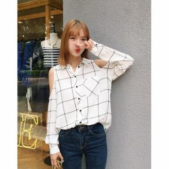 Grid Blouse - 773016