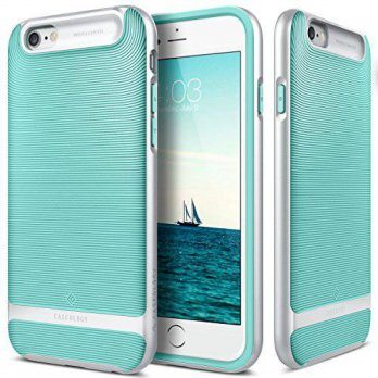 [holiczone] iPhone 6 Case, Caseology [Wavelength Series] Textured Pattern Grip Cover [Turq/205050