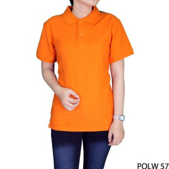 Kaos Polo Wanita Merah Fanta 100% Cotton Pique Orange – POLW 57