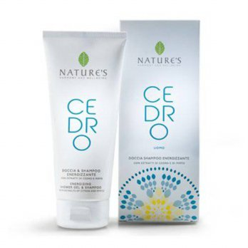 [holiczone] Nature`s Nature Natures Cedro Energizing Shower Gel and Shampoo for Men, 6.7 O/222148