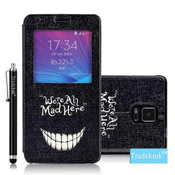 [holiczone] Galaxy Note 4 Case, Tradekmk(TM) Brand New Fashion High Quality Flip Leather W/225071