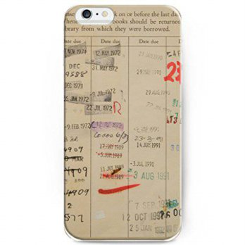 [holiczone] Phone Cases For iPhone 6, UKASE Unique Design of Library Card/221562