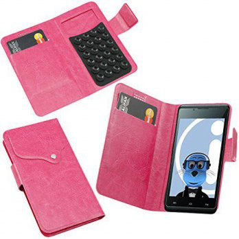 [holiczone] ITALKonline iTALKonline Verykool s401 Pink Super Slim PU Leather Executive Mul/221915