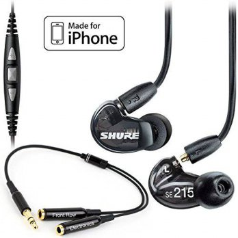 [holiczone] Shure SE215-K Earphones & CBL-M-+K Music Phone Cable & Stereo Y Cable - Bundle/237473