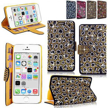 [holiczone] CellularVilla iphone 6 6S Plus Case - Cellularvilla Pu Leather Wallet Diamond /239230