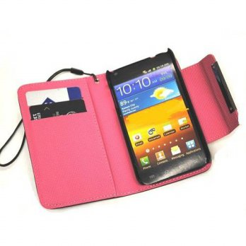 [holiczone] Powertag OOKi (TM) Hot Pink Deluxe Folio Ultra Wallet Leather Case with Credit/239144